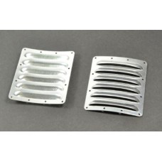 Pair Cooling fin vents for airplane cowl 73mm*62mm*0.5mm